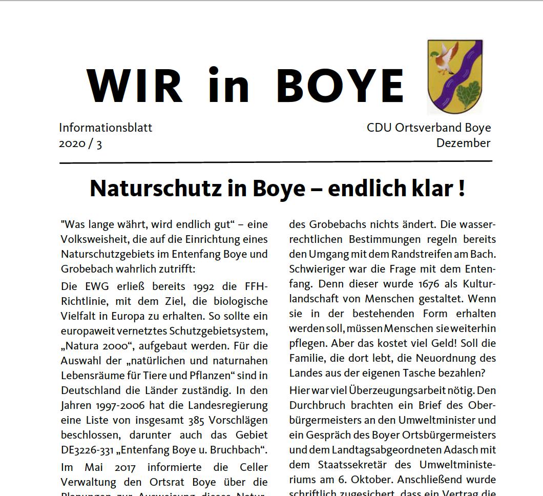 WIR in Boye 3 2020